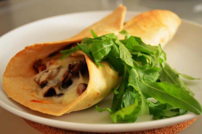 Homemade vegetarian tortillas